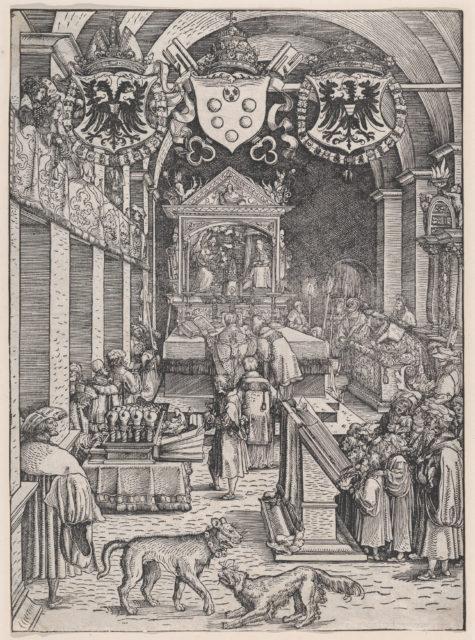 Maximilian I Hearing Mass