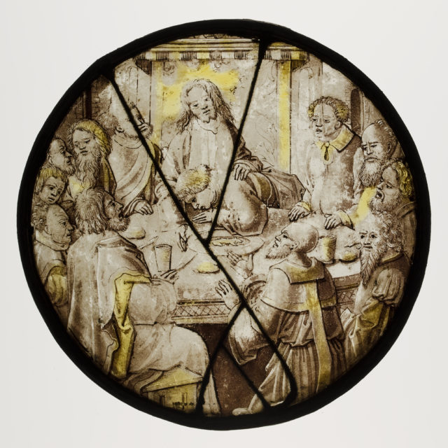 Roundel with the Last Supper