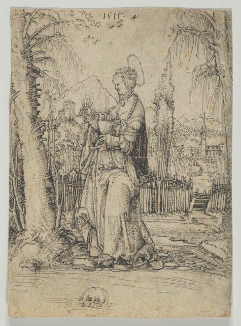 Saint Barbara in a Landscape