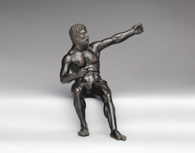 Seated Hercules in the Act of Shooting at the Stymphalian Birds