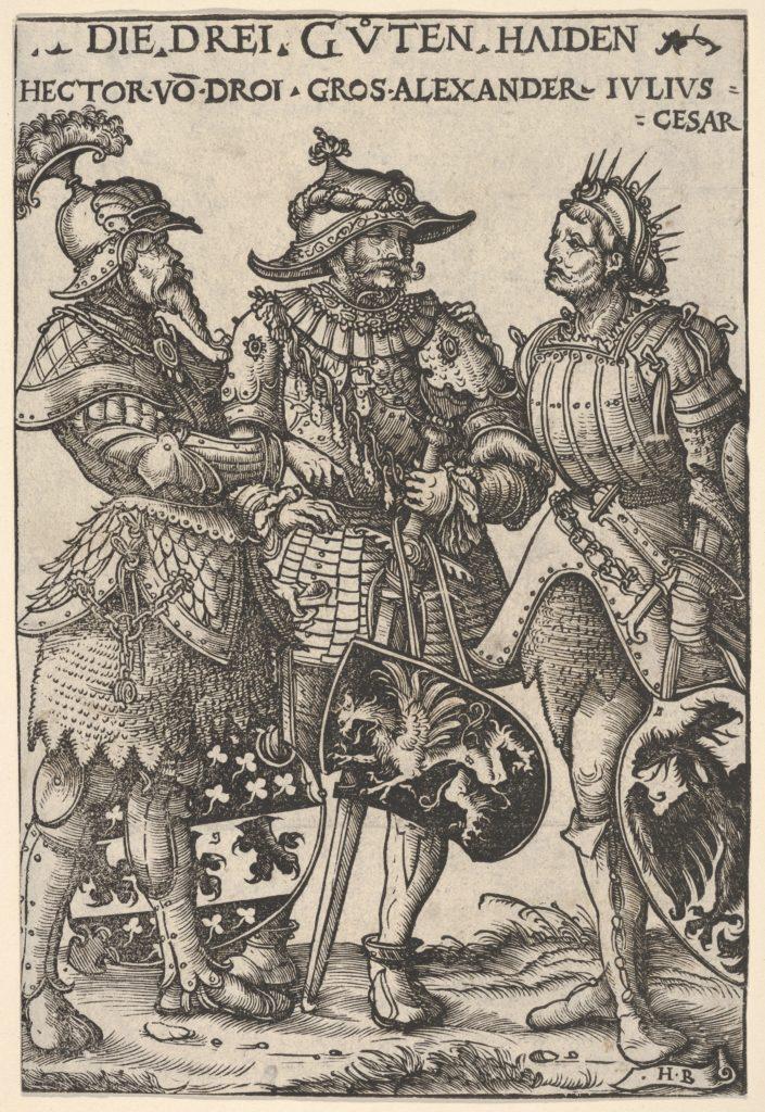 The Three Heathen Heroes (Die Drei Guten Haiden), from Heroes and Heroines