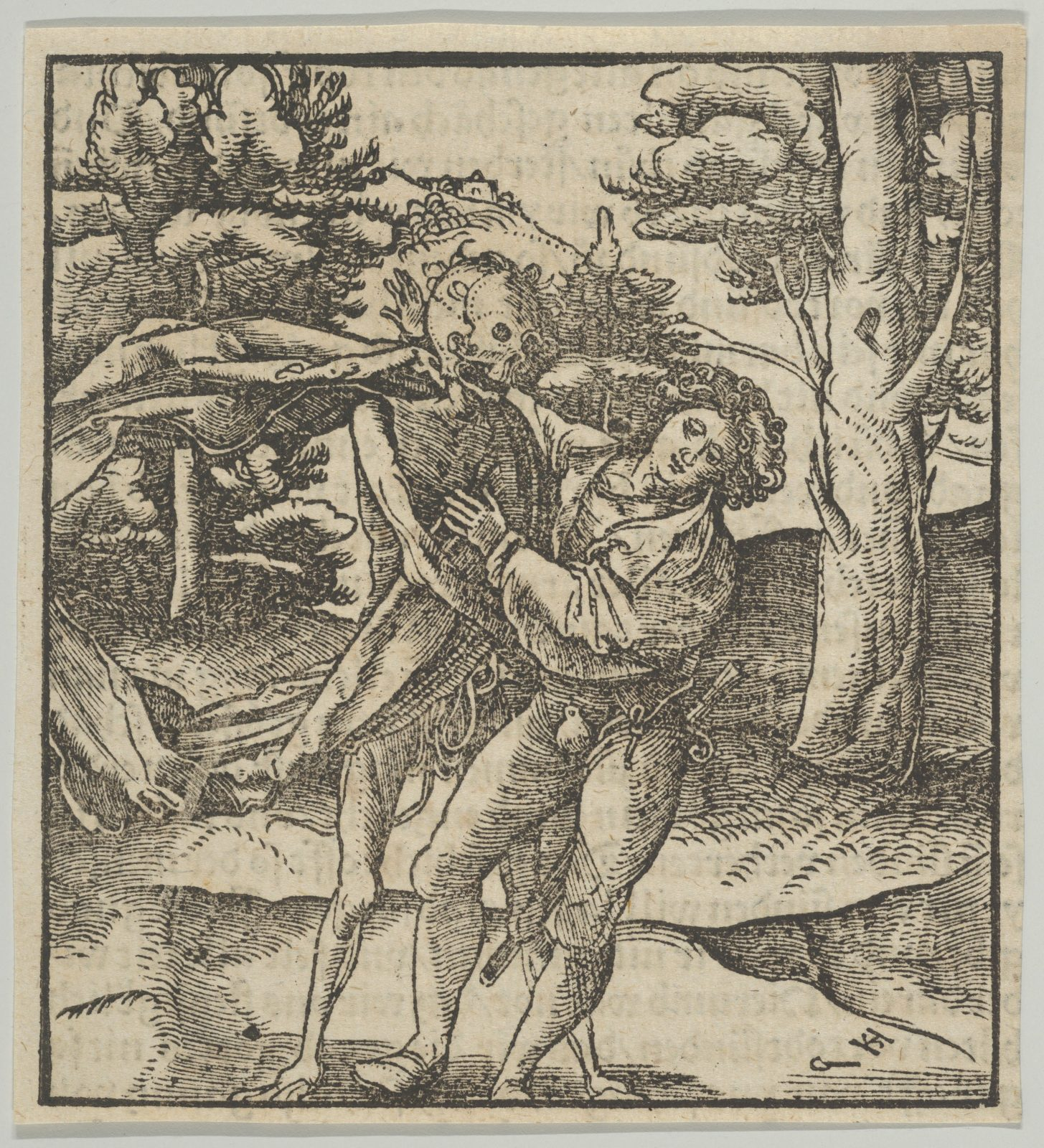 A Young Man Seized by Death, from Hymmelwagen auff dem, wer wol lebt...