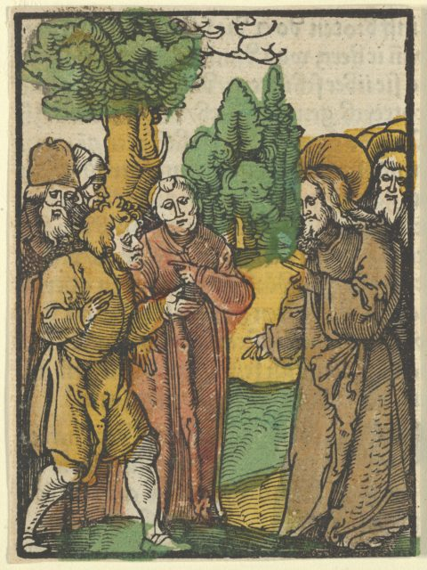 Christ and the Pharisees, from Das Plenarium
