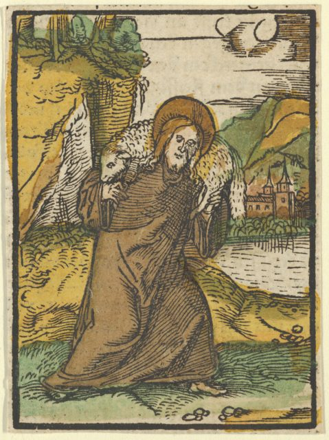 Christ as Good Shepherd, from Das Plenarium