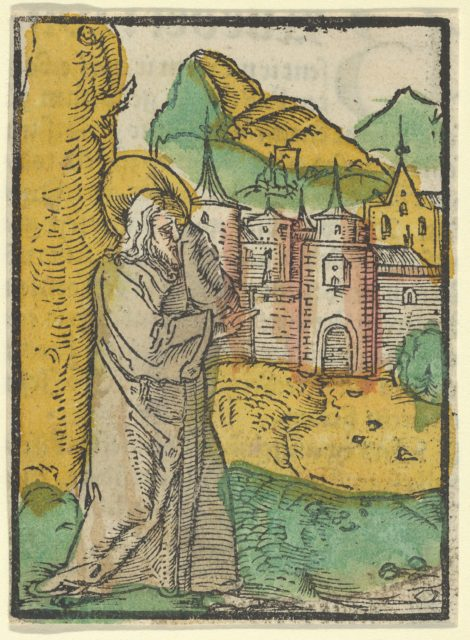 Christ Deploring Jerusalem, from Das Plenarium