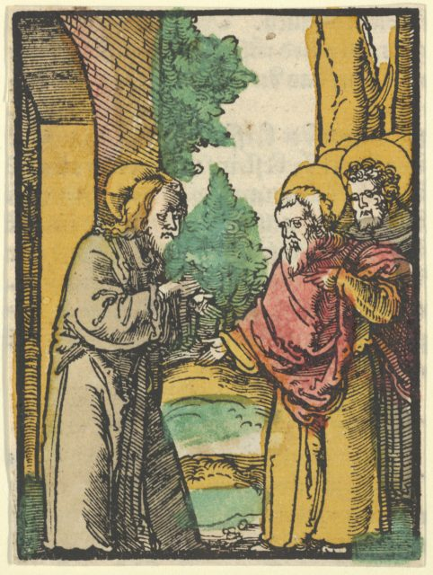 Christ Talking to the Disciples, 3, from Das Plenarium