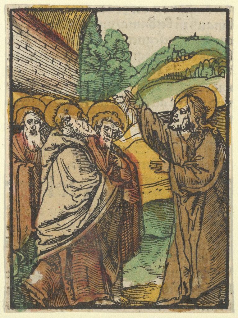 Christ Teaching the Disciples, 2, from Das Plenarium