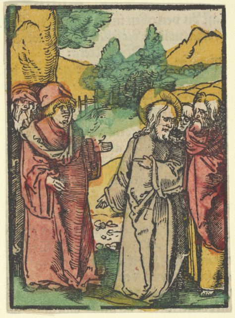 Christ Warning the Disciples of False Prophets, from Das Plenarium
