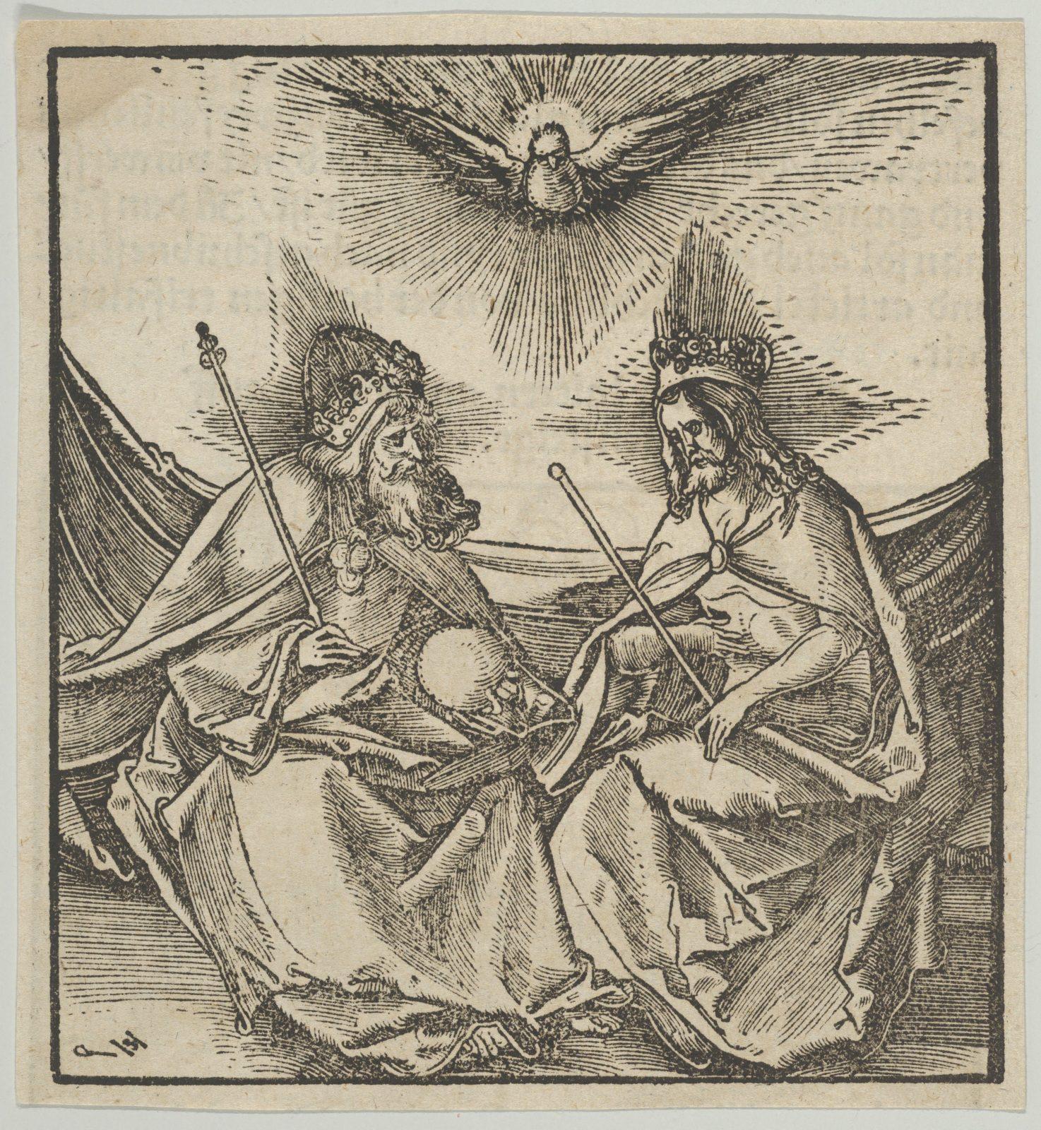 The Holy Trinity, from Hymmelwagen auff dem, wer wol lebt...