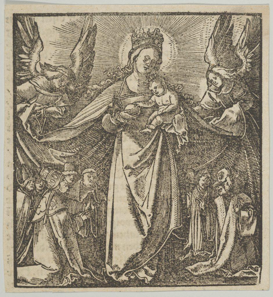 The Madonna of Mercy, from Hymmelwagen auff dem, wer wol lebt...