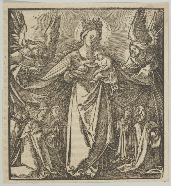 The Madonna of Mercy, from Hymmelwagen auff dem, wer wol lebt...