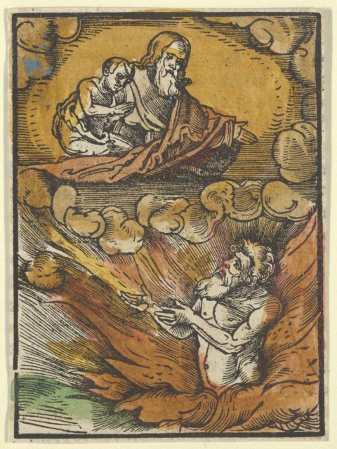 The Rich Man in Hell and the Poor Lazarus in Abraham's Lap, from Das Plenarium