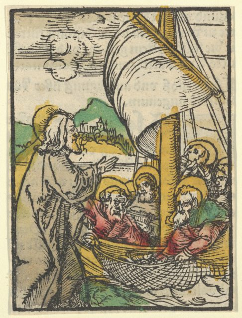 The Second Draught of Fishes by Saint Peter, from Das Plenarium