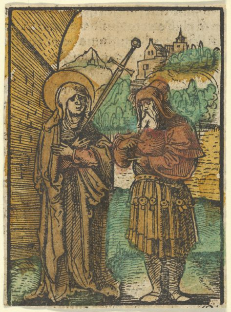 The Virgin as Master Dolorosa and Simeon, from Das Plenarium