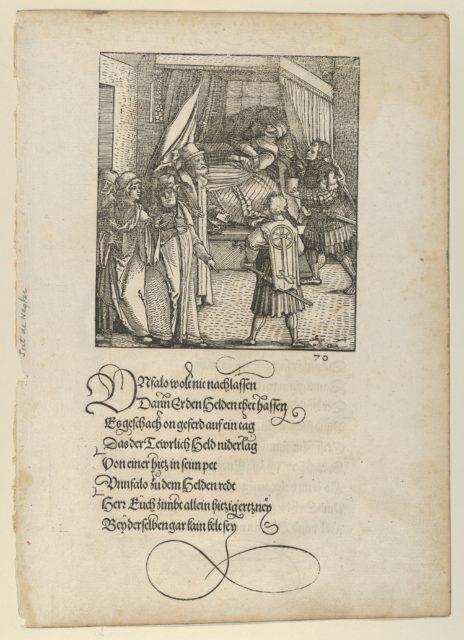 Theuerdanck on his Sickbed, from Theuerdanck