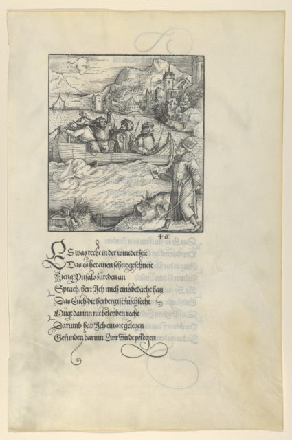 Theuerdanck's Ship Caught in the Ice, from Theuerdanck