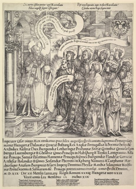 Maximilian Presented by his Patron Saints to the Almighty