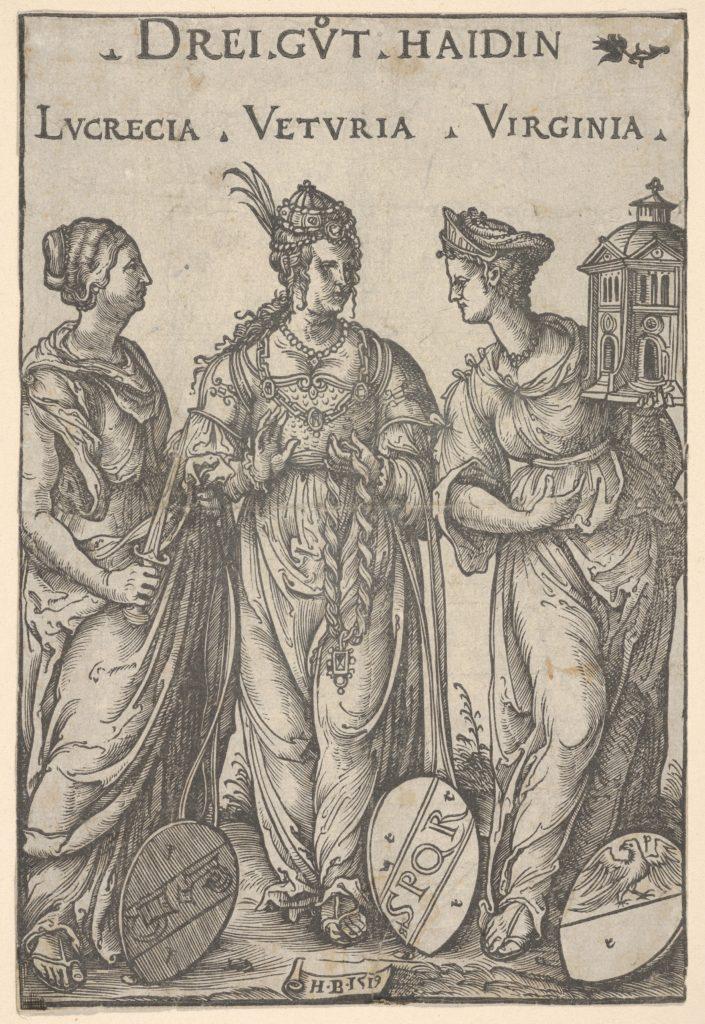 The Three Heathen Heroines (Drei Gut Haidin), from Heroes and Heroines
