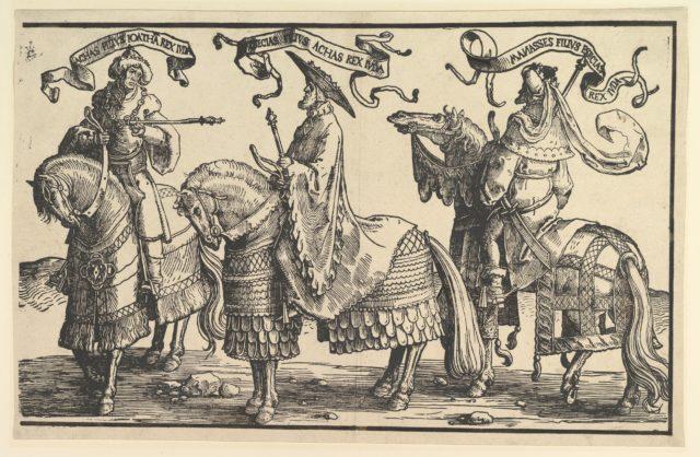 Ahaz, Hezekiah, Manasses, from The Twelve Kings of Israel