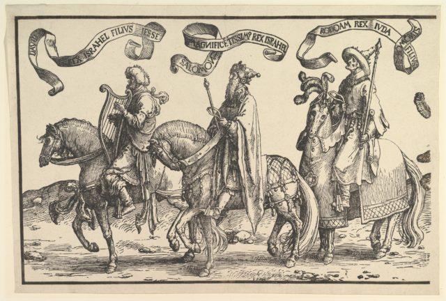 David, Solomon, Rehoboam, from The Twelve Kings of Israel