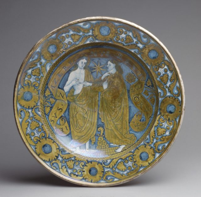 Dish with the Incredulity of St. Thomas