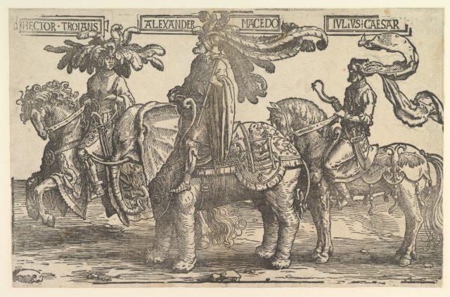 Hector, Alexander, Julius Caesar, from the Nine Heroes