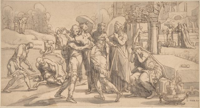 Raguel's Reception of Tobias at Ecbatana