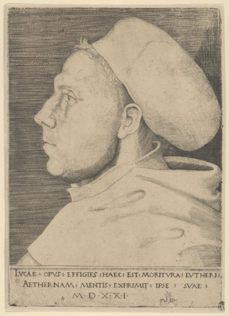 Luther as an Augustinian Friar, with Cap