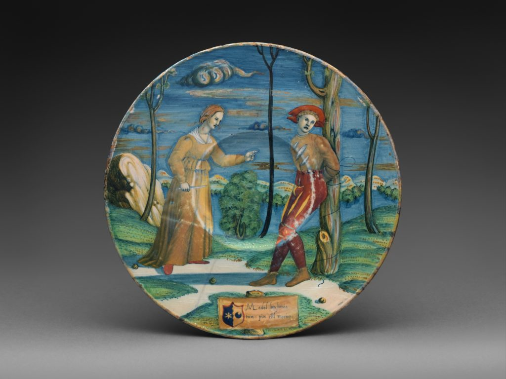Plate with The Lover Tormented