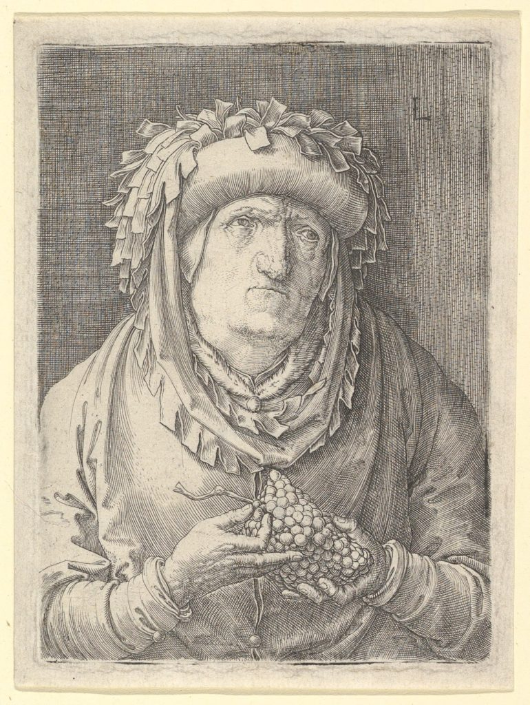 Old Woman With Grapes