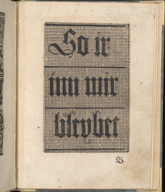 Ein ney Furmbüchlein, Page 3, recto