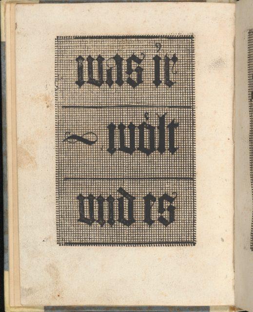 Ein ney Furmbüchlein, Page 4, verso