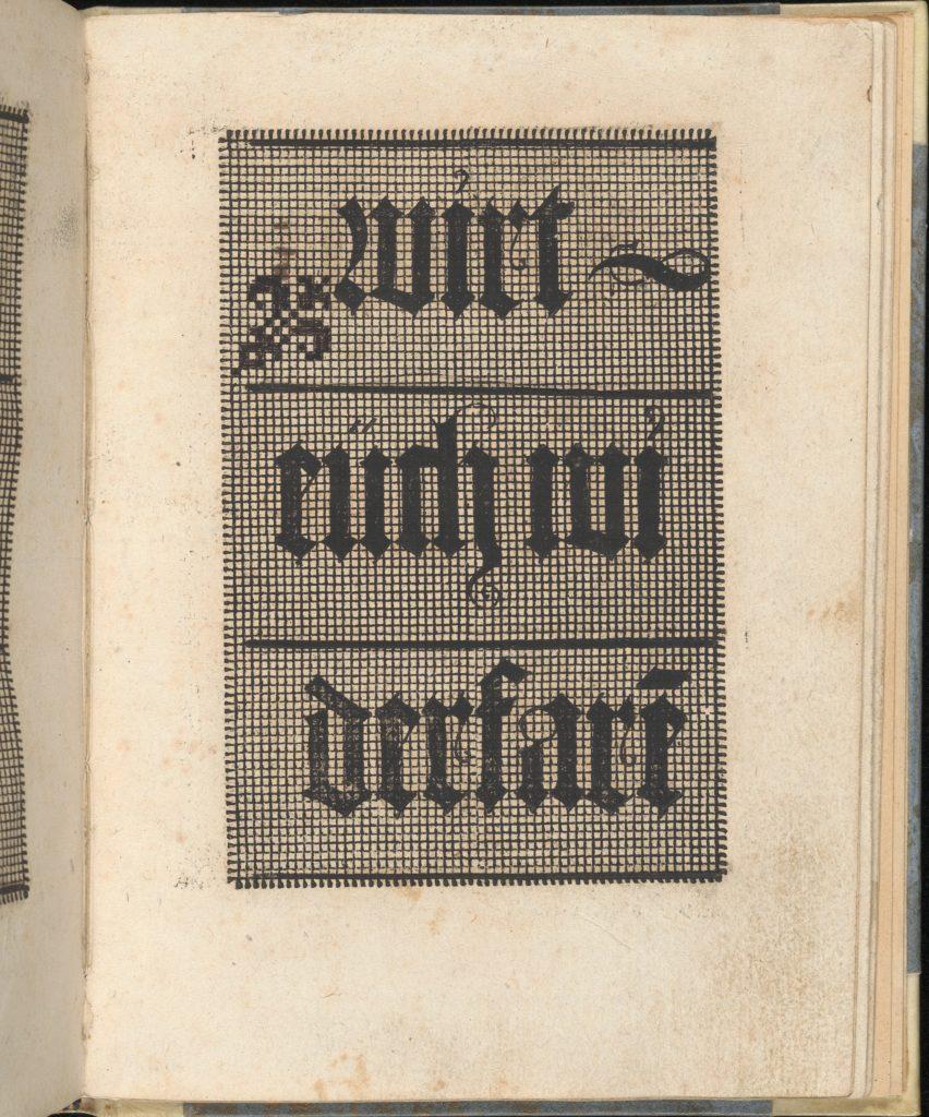 Ein ney Furmbüchlein, Page 5, recto
