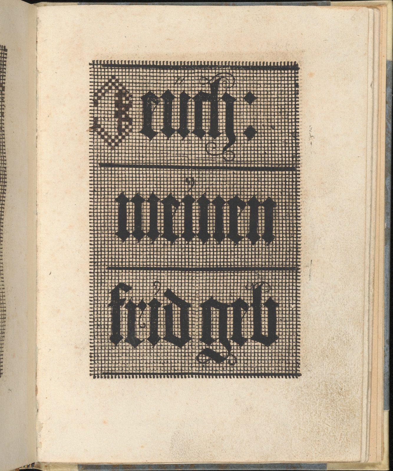 Ein ney Furmbüchlein, Page 6, recto