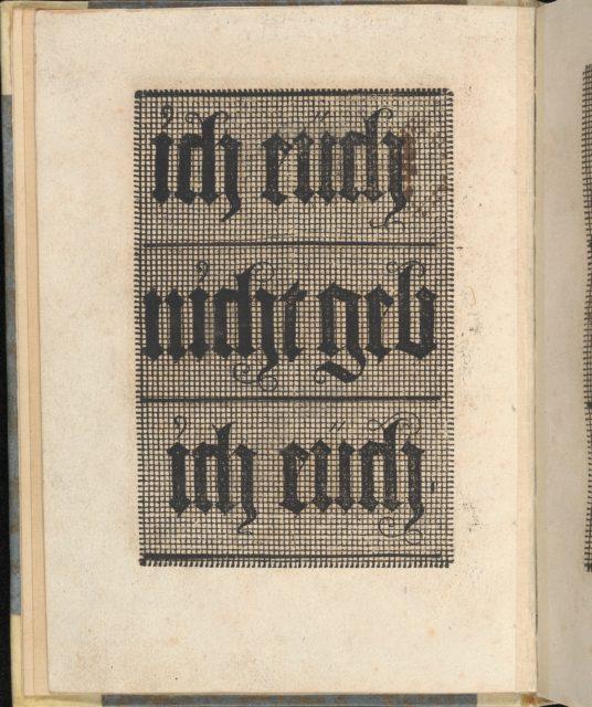 Ein ney Furmbüchlein, Page 6, verso