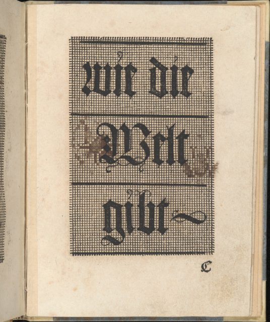Ein ney Furmbüchlein, Page 7, recto