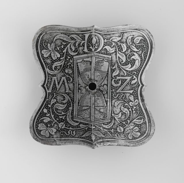 Escutcheon Plate with the Device of Ottheinrich, Count Palatine of the Rhine (1502–1559)