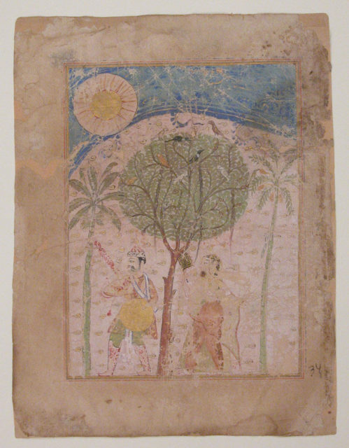 """Laur and Chanda in the Forest"", Folio from a Chandayana (or Laur Chanda)"