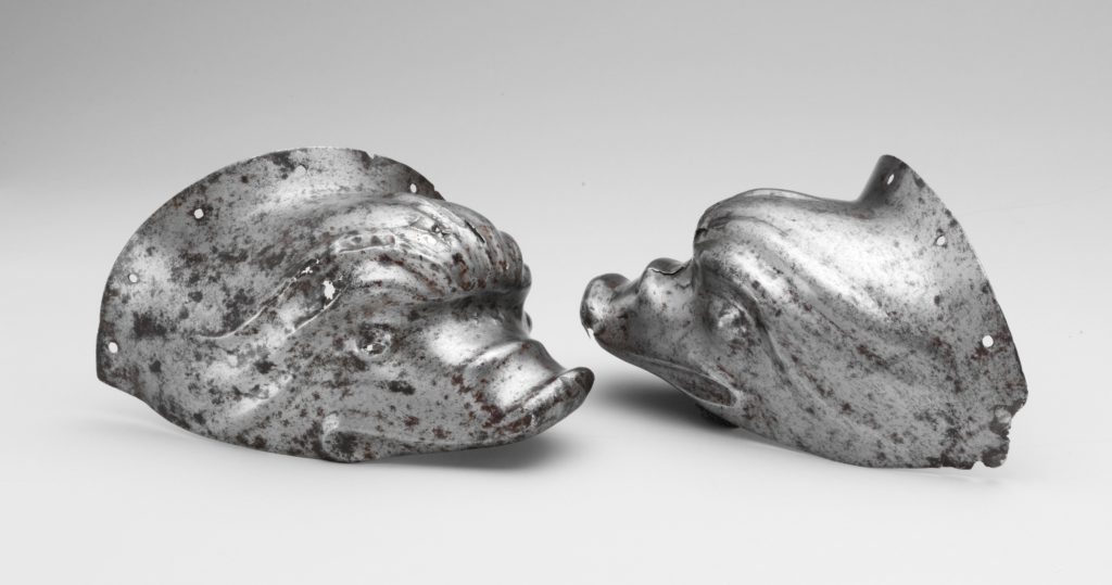 Pair of Ear Guards from a Shaffron (Horse's Head Defense)