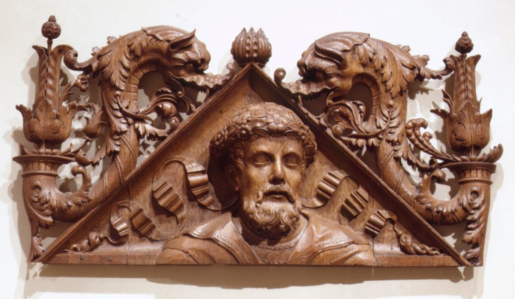 Pediment (one of a pair)