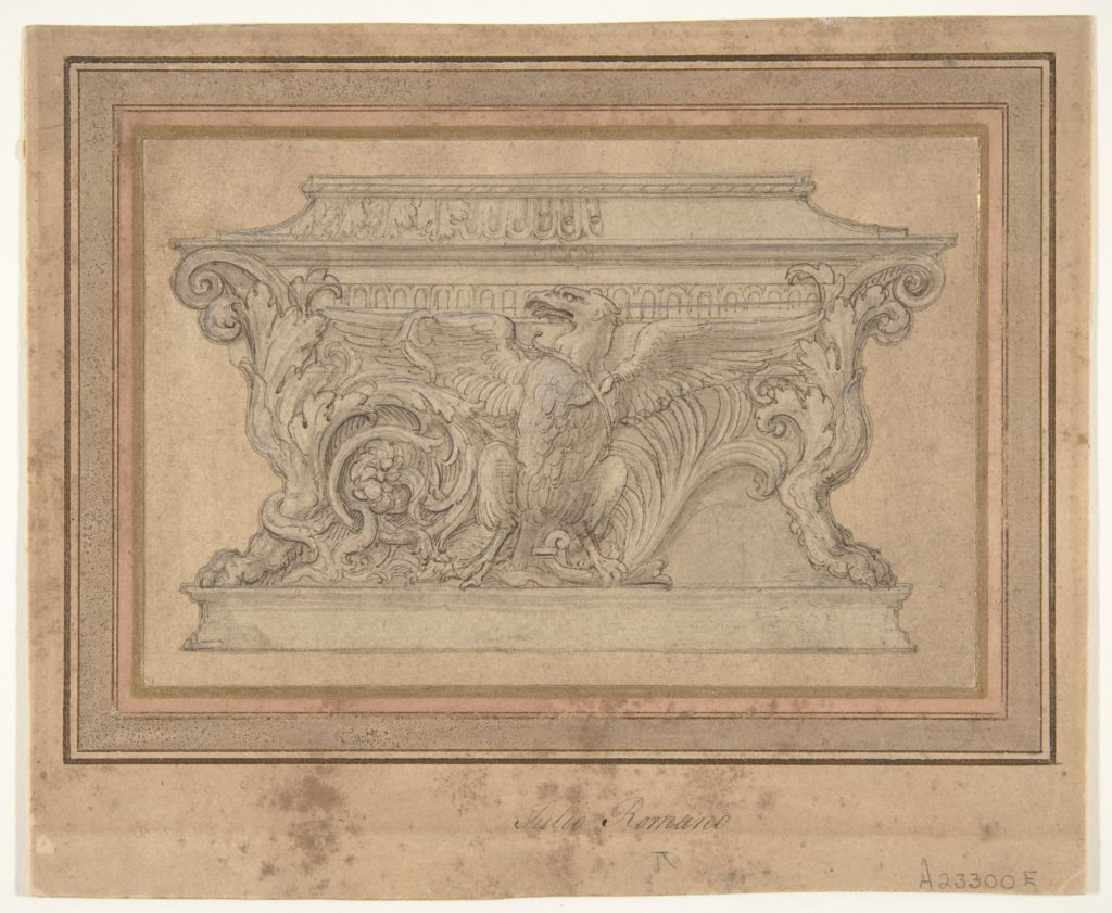 Design for a Casket with the Gonzaga Eagle