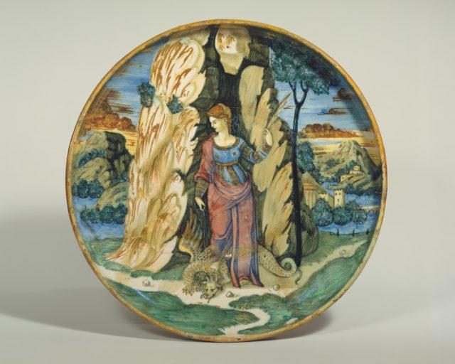 Dish (coppa): Saint Margaret