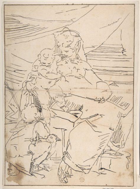 Mary, Infant Christ and Saint John
