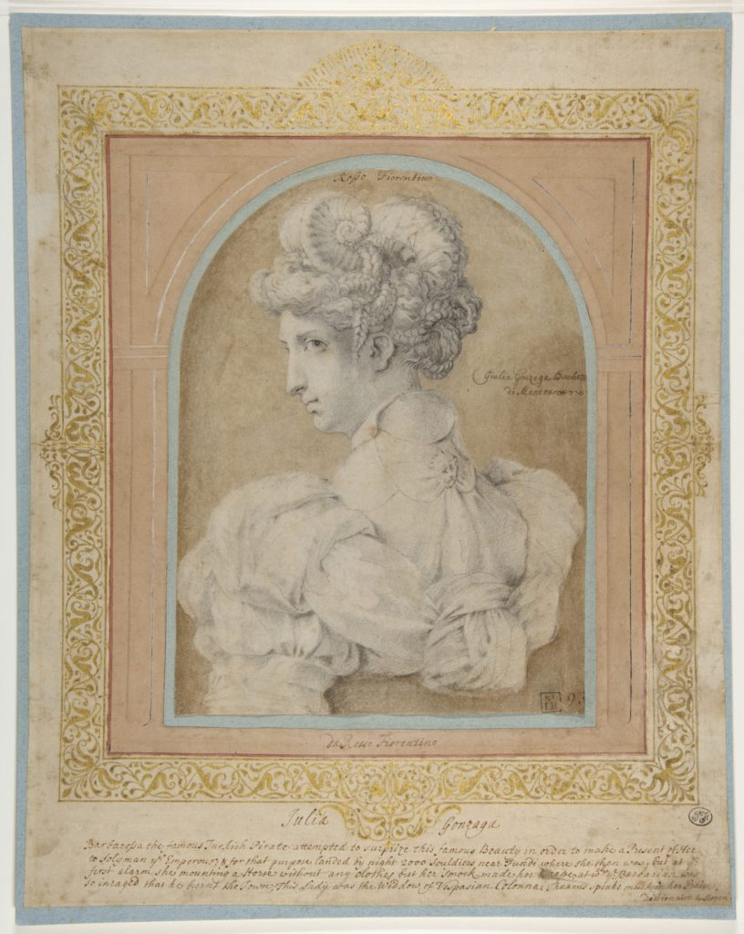 Bust of a Woman with an Elaborate Coiffure