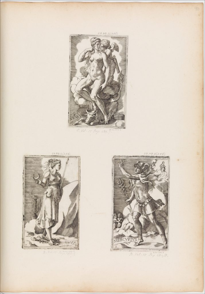 Mercurius, from Planets, plate 6