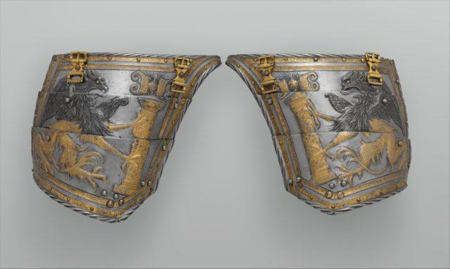 Pair of Tassets of Emperor Charles V of Austria (1500–1558)