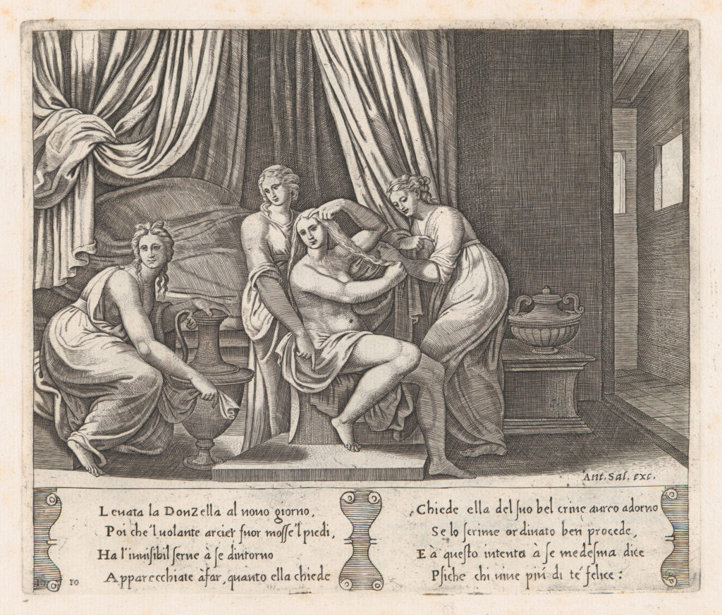 Plate 10: Nymphs dressing Psyche's hair, from the Story of Cupid and Psyche as told by Apuleius