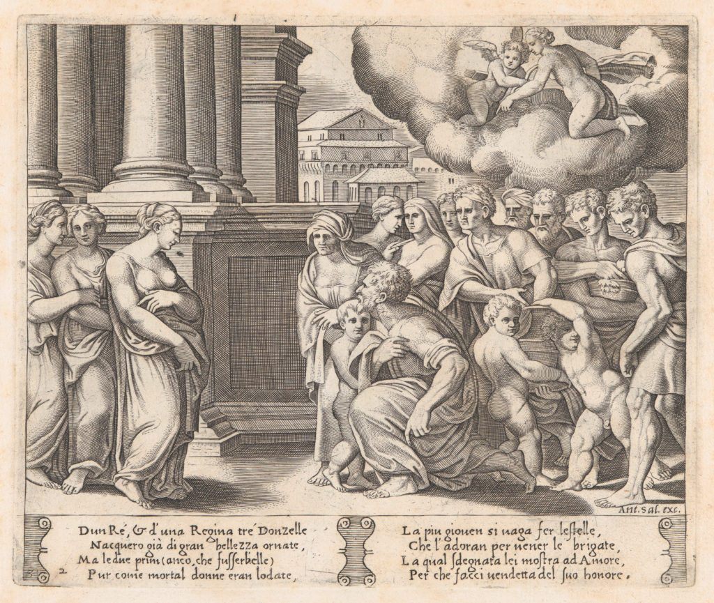 Plate 2: People rendering divine honors to Psyche, from the Story of Cupid and Psyche as told by Apuleius
