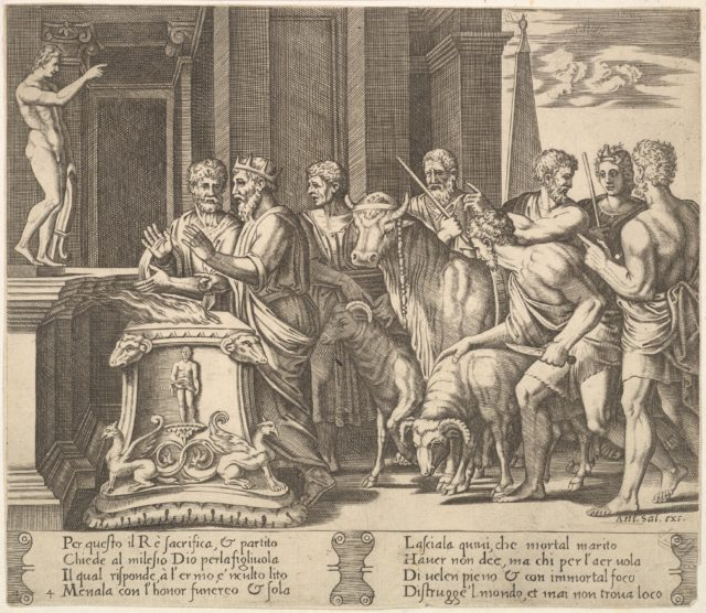 Plate 4: Psyche's father consulting the oracle, from 'The Fable of Psyche'