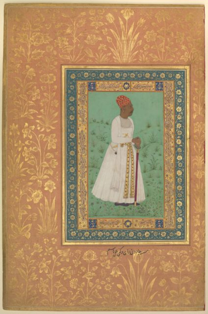 """Portrait of Jadun Rai Deccani"", Folio from the Shah Jahan Album"